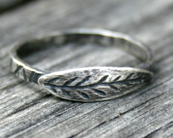 Sterling Silver Lightning Bolt Stacking Ring By Ddfemme On