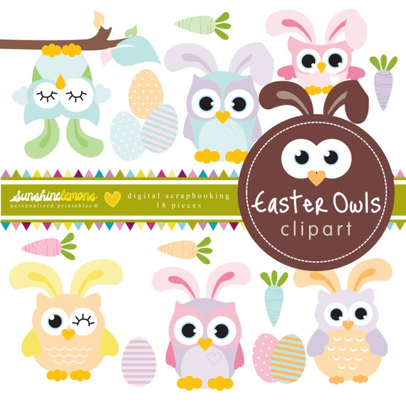 free easter owl clip art - photo #13