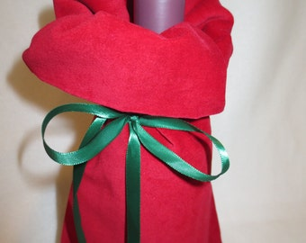 Wine Bottle Gift Bag Red
