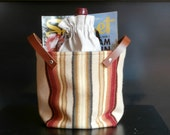 special listing for Faith, 1 storage container w/ leather handles and 1 small container, earth tones