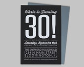 Birthday Party Invitation - Custom Printable PDF