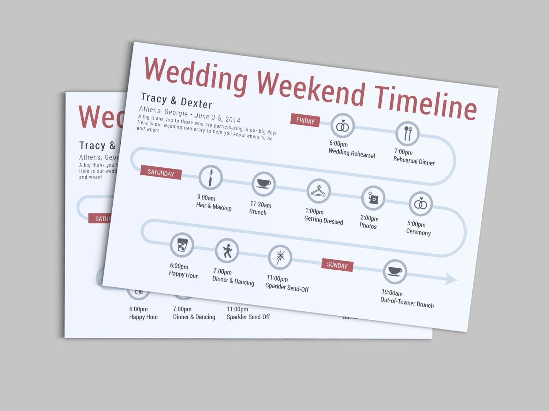 wedding weekend or day of the wedding timeline by lashepherd