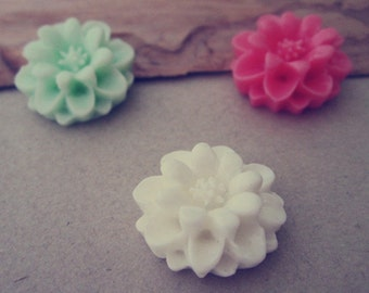 12pcs  Mixed color  Resin Flowers 17mm