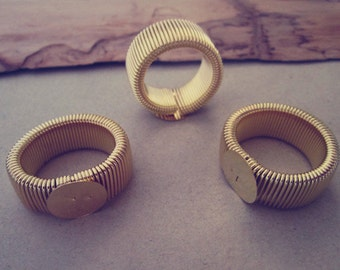 20pcs retractable gold color Ring Blanks ( ring base12mm )