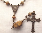 Bronze Unakite Pocket Rosary