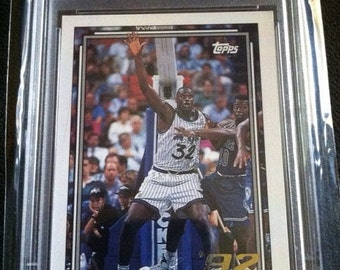 SHAQUILLE O'NEAL 1992 Rookie Gold PSA Graded Orlando Magic Basketball Card Vintage