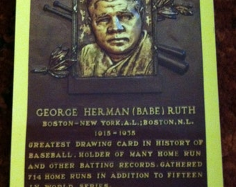 BABE RUTH 1994 Cooperstown HOF Postcard Vintage New York Yankees Baseball Nice!