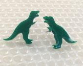 T-rex Earrings | Laser Cut Jewelry | Hypoallergenic Studs