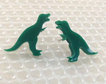 T-rex Earrings | Laser Cut Jewelry | Hypoallergenic Studs