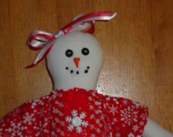 Snowman Girl and Gingerbread Girl Topsy Turvy Doll by Sew Practical, Mom and Pop Craft