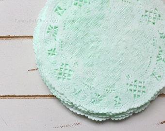50 Mint Green, Blush PInk, Light Blue Paper Doily Doilies 5 inch, 6 inch, 8 inch, 10 inch, 12 inch