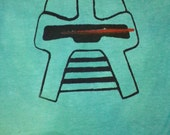By Your Command Old School Cylon Baby Onesie in Green