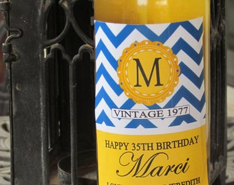 COMPLETELY CUSTOM Birthday personalized wine labels