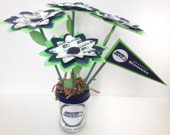 Seattle Seahawks Paper Flower Bouquet