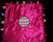 Personalized Sensory Blankets ---  Baseball Applique