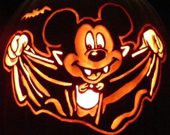 vampire mickey mouse pumpkin template - items similar to foam pumpkin carved minion on etsy