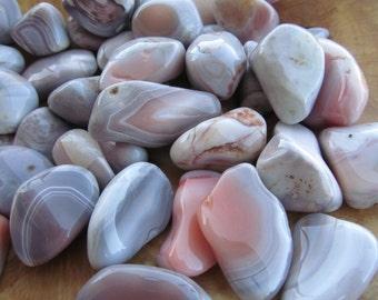 Pink Botswana Agate Tumbled Stone Small T69