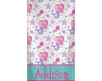 Personalized Mermaid Beach Towel 30x60
