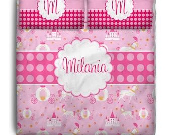 Pink Princess Custom Personalized Bedding