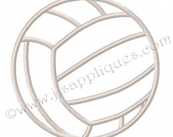 Sports Designs Volleyball Embroidery Applique Design  - Volleyball 4x4, 5x7, 6x10 hoops - Instant Download