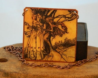 Arthur Rackham necklace or pendant fairy jewelry Brothers Grimm