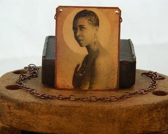 Ethel Waters necklace African American jewelry  mixed media jewelry