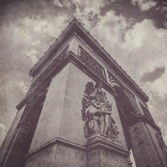Arc de triomphe black white photograph wall art home for Arc de triomphe wall mural