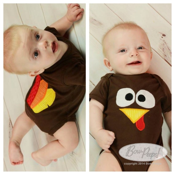 Thanksgiving Turkey And Feather Butt Bodysuit By