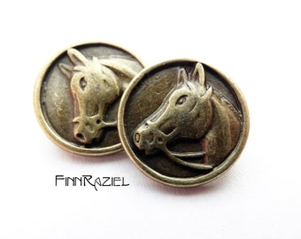 6 metal buttons with Horse Head ø15mm rider dress