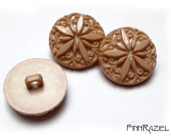 5 buttons 22mm opulent shank buttons dark brown or light brown romantical elegant