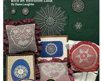 Doilies & Other Delights in Thread Crochet Pattern Book Plaid 7728