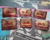 Set of 6 pin badges - Vintage Auto Series 1900. Made in the USSR.