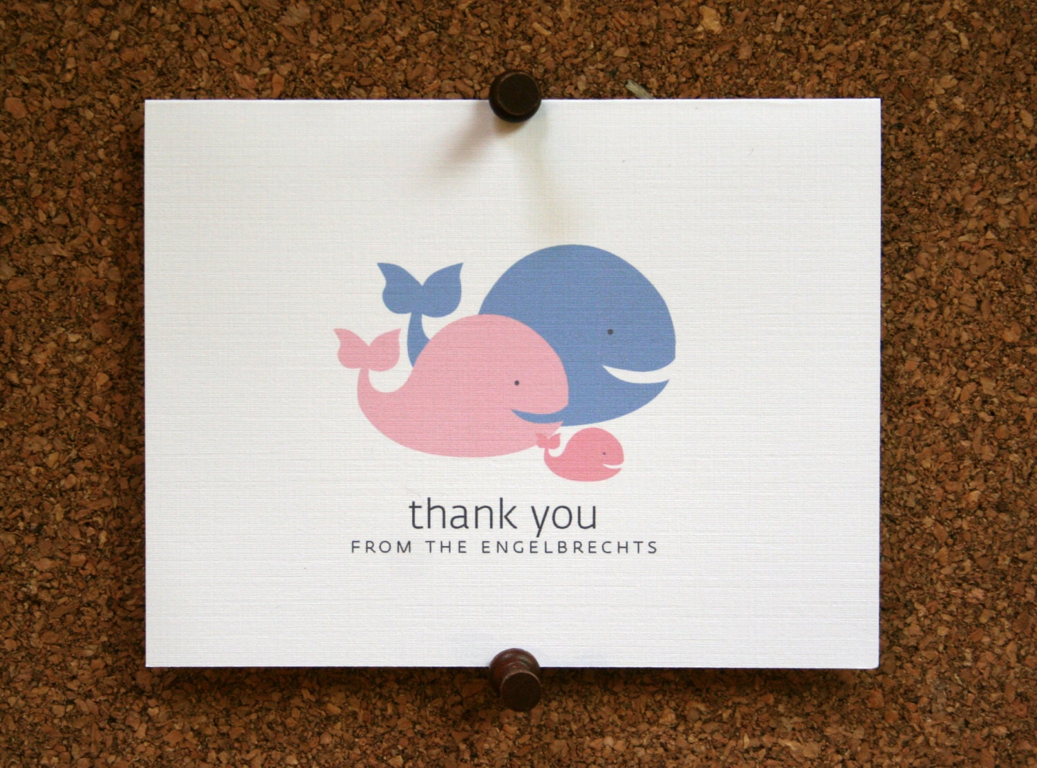 whale baby thank you cards baby shower thank you cards baby