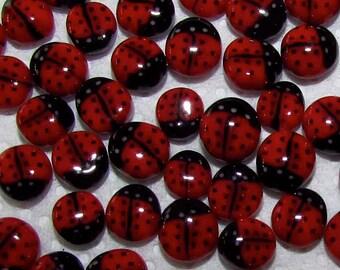 Handmade murrini 8 Red Ladybug murrini 104 COE By Bernadette Fuentes