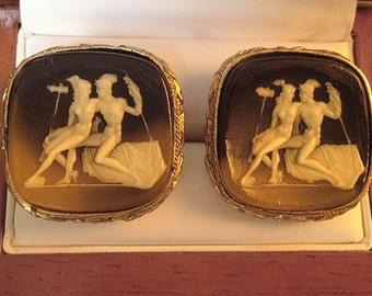 Rare Vintage Dante Museum Masterpiece Cufflinks Hemes and Aphrodite