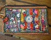 Bohemian Vintage Indian Textile Clutch Bag