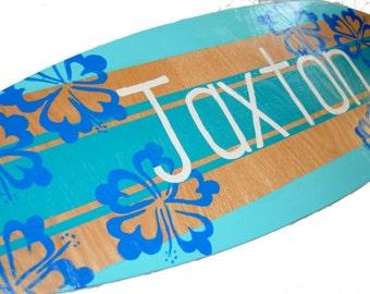 Personalized Surfboard Art, Custom Beach Signs, Beach House Decor, Jaxton