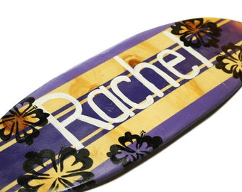 Personalized Beach Signs, Surfboard Wall Art, Teen Girls Room Decor, Rachel