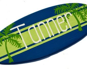Boys Wall Decor, Surfboard Wall Art, Personalized Surfboard Sign, Beach Themed Nursery Decor, Coastal Cottage Decor, Teen Boys Gift, Tanner