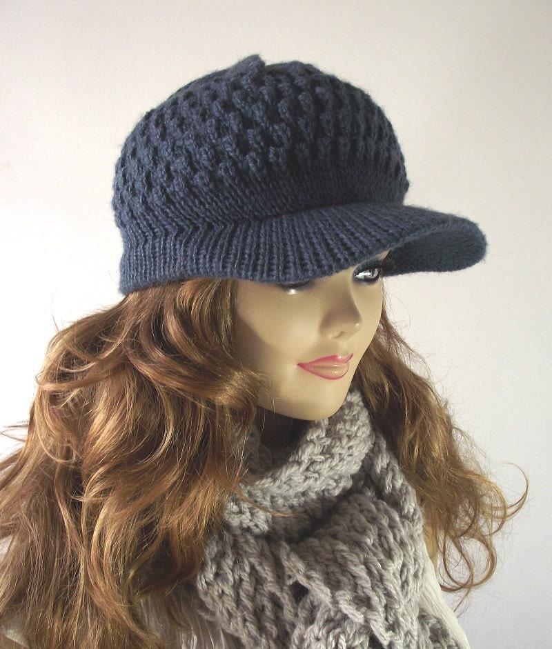 KNITTING HAT PATTERN Newsboy Brim Hat Claire Newsboy Hat