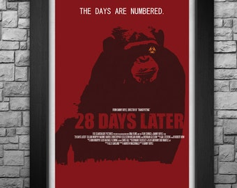 "28 DAYS LATER limited edition 11x17"" movie poster art print"