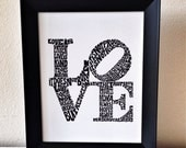 "Customizable LOVE Word Art - 1 Corinthians 13 - 8x10"" - Unique Wedding Gift or Anniversary Gift"