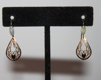 Fab 40's 14K and Freshwater Pearl Teardrop Earrings