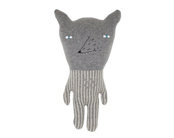 Wolfie - soft knitted toy