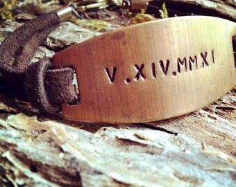 Roman Numeral Bracelet Special Date Bracelet Groom Gift Wedding Gift