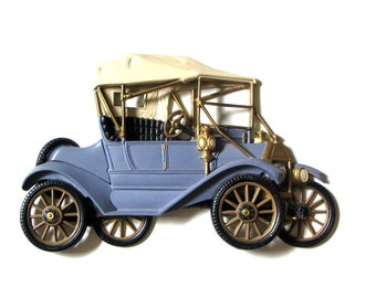 Blue Model T Ford Car Resin Lizzie Wall Plaque 3D Wall Art Burwood Man Cave Bar Decor Photography Prop Fathers Day Gift for Dad