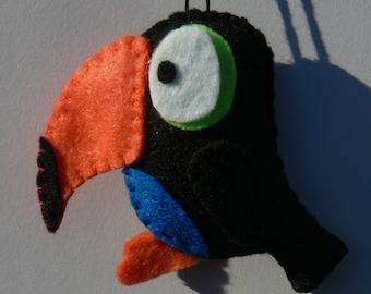 Felt Bird Ornament - Felt Tucan Ornament