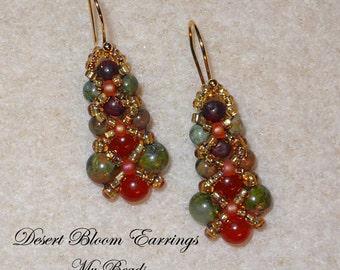 Beaded Earrings, Beadwoven Earrings, Seed Bead Earrings, Bead Woven Earrings, Jewelry Gift, Earrings