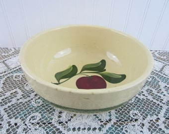 Watt Pottery ~ Large Three Leaf Apple Bowl 73