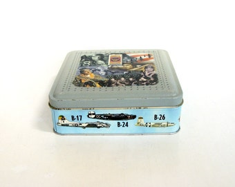 The Mighty Eighth Air Force Heritage Museum Souvenir Tin Savannah Georgia, WW2 Historical Aviation Collectible Tin Canister